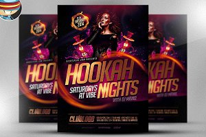 Hookah Night Flyer Template