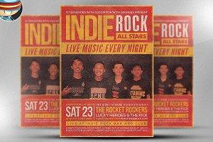Indie Rock Flyer Template