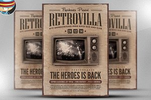 Retrovilla Flyer Template
