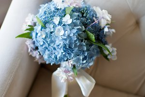 Blue flower bouquet