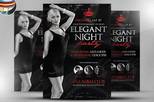 Elegant Night Party Flyer Template