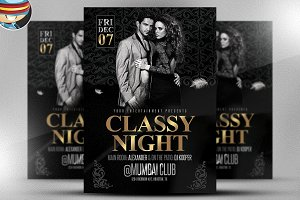 Classy Nights Flyer Template