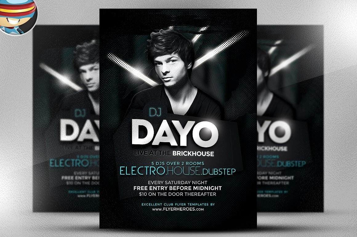 Dayo DJ Flyer Template ~ Flyer Templates ~ Creative Market