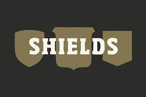 30 Shield Badge Shapes - By Hand