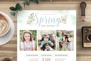 Spring Mini Session Template MS033