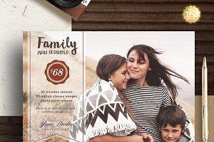 Family Mini Session Template MS002