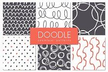 Doodle. Seamless Patterns Set