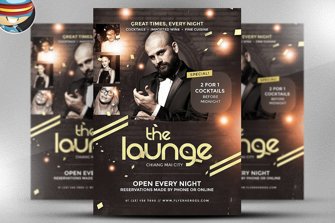 The Lounge Flyer Template ~ Flyer Templates ~ Creative Market