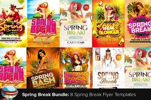 Spring Break Flyer Bundle