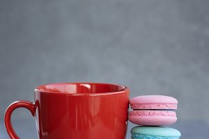 Sweet Break Macaron and cup of coffe