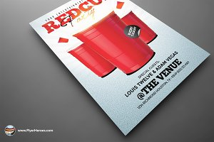 Red Cup Flyer Template 2