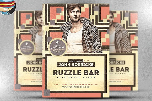 Ruzzle Indie Flyer Template
