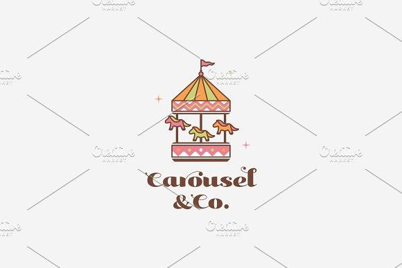 Kids Logo, Carousel Child Icon.