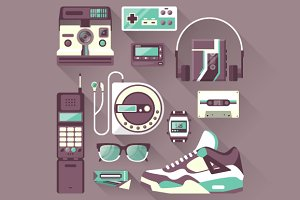 Retro Gadgets & Devices Icons