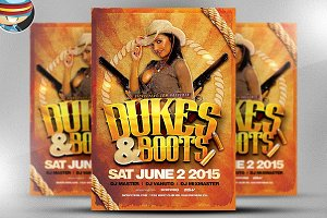 Dukes and Boots Flyer Template