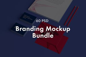 60psd Branding  Mockup Bundle
