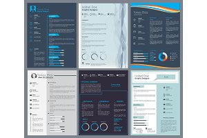 Resume or curriculum vitae. Design template with place for your text