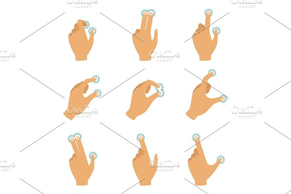 Different Gestures To Control The Touch Screen