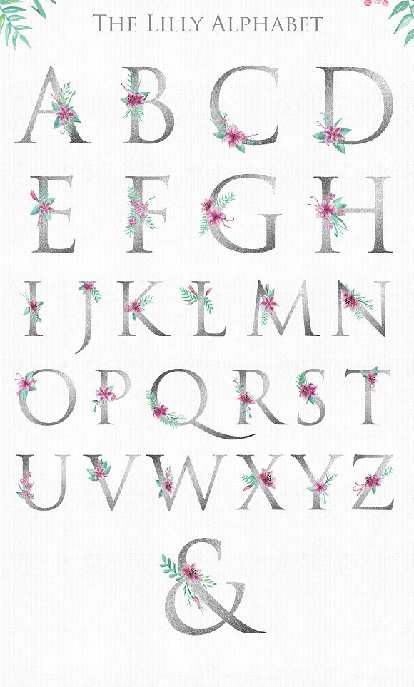 Lilly Alphabet Graphic Set in Illustrations - product preview 1