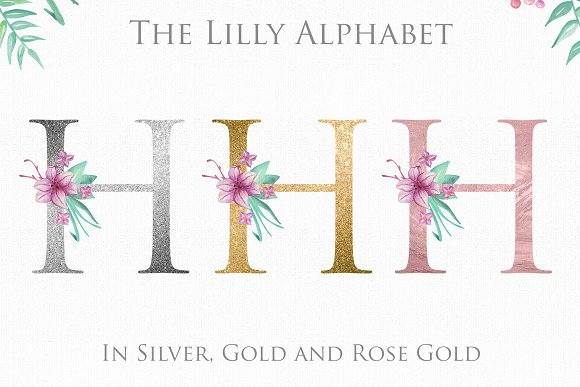 Lilly Alphabet Graphic Set in Illustrations - product preview 2