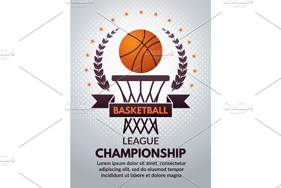 Retro Basketball Poster For Sport College