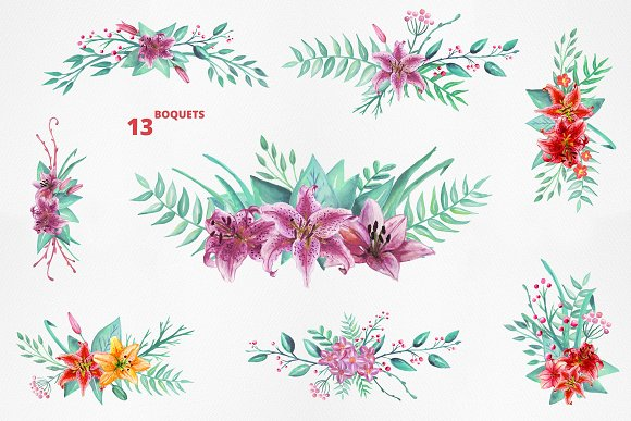 Lilly Alphabet Graphic Set in Illustrations - product preview 6