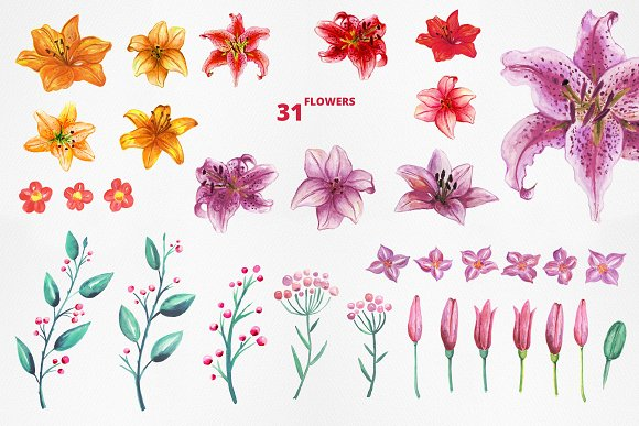 Lilly Alphabet Graphic Set in Illustrations - product preview 7