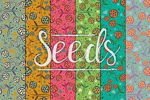 Seeds & Hearts patterns