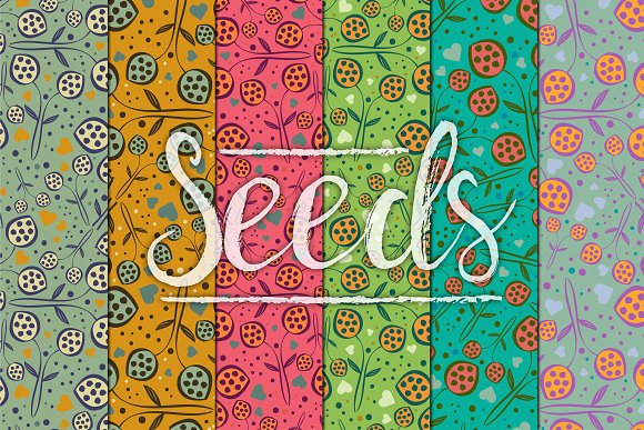 Seeds Hearts Patterns