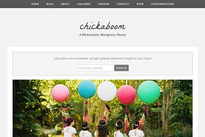 Chickaboom Feminine Wordpress Theme