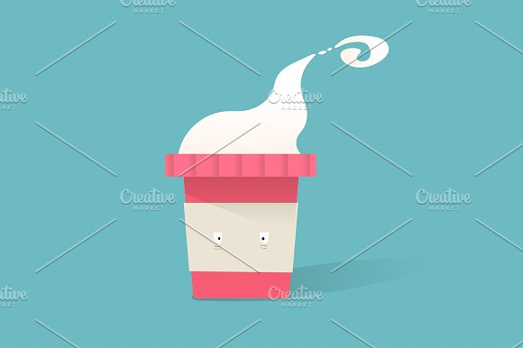 Illustration Of Hot Coffee Cup Icon