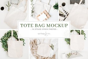Tote Bag Mockup Styled Stock Photos