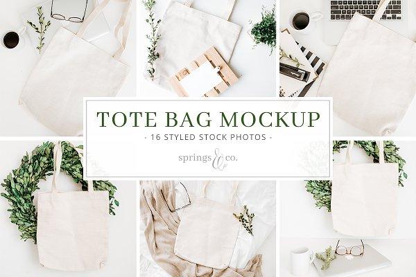 Tote Bag Mockup Styled Stock Photos
