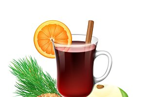 Red mulled wine for winter