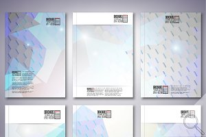 Hexagonal brochure or flyer patterns