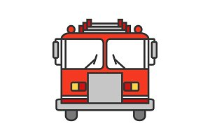 Fire engine color icon
