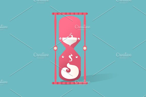 Illustration Of Hourglass Icon