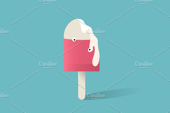 Illustration Of Ice Cream Stick Icon