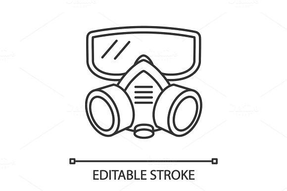 Respirator Linear Icon