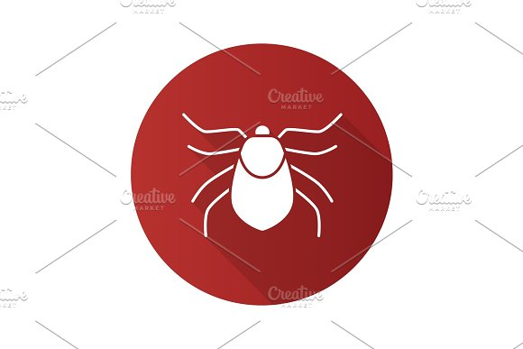 Mite Flat Design Long Shadow Glyph Icon