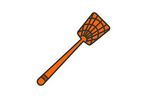 Fly-swatter color icon
