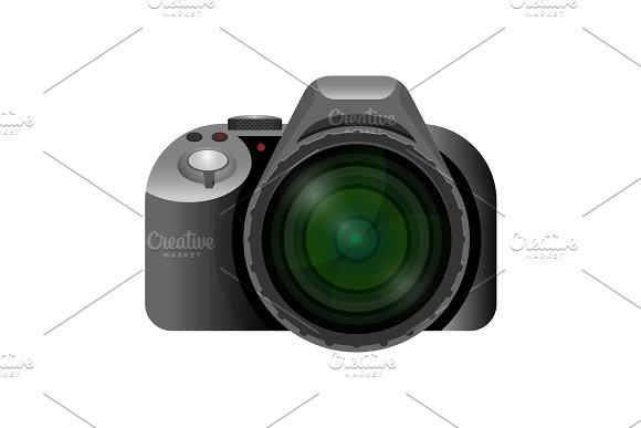 Professional Modern Digital Camera With Wide Short Lens