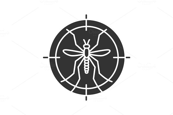 Mosquitoes Target Glyph Icon