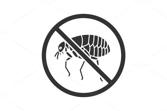 Stop Fleas Glyph Icon