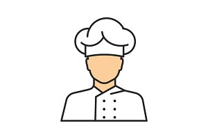Chef cook color icon