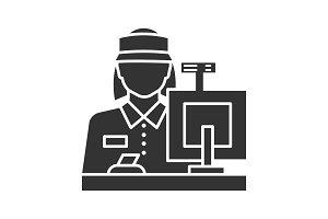 Cashier glyph icon