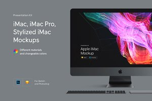 iMac Pro, iMac, Stylized iMac Mockup
