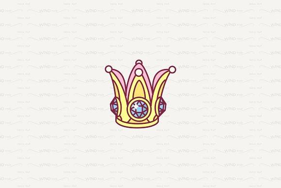 Vector Cute Fantasy Crown