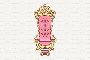 ♥ vector throne. Royal luxury chair