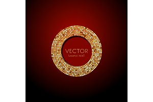 shine gold vector Luxury background